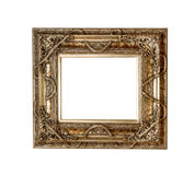 Gold picture frame, retro Royalty Free Stock Photo