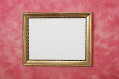 Gold Picture Frame on Wall Stock Image