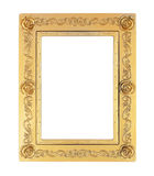 Gold picture frame on white background Stock Images