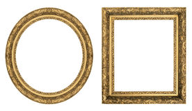 Gold picture frames royalty free stock photo