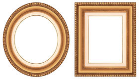 Gold picture frames Royalty Free Stock Images