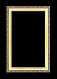 Gold picture frames. Isolated on black Stock Images