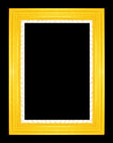 Gold picture frames. Isolated on black background Royalty Free Stock Photography