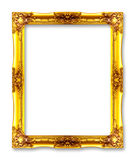 Gold picture frames. Isolated on white Stock Photo