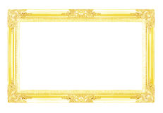 Gold picture frames. Isolated on white background Stock Image