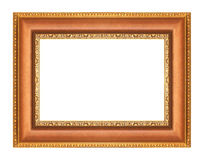 Gold picture frames on white Royalty Free Stock Photography