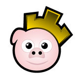 Gold pig Royalty Free Stock Photo