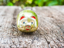 Gold pig Royalty Free Stock Photography