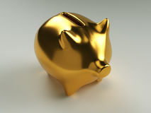 Gold Piggy Bank Royalty Free Stock Photos