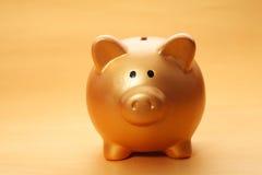 Gold piggy bank Royalty Free Stock Image