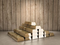 Gold pile Stock Photography