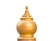 Gold pillars head Stock Photo