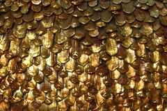 gold pinecone-like texture Stock Photography