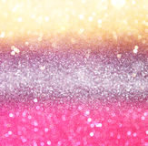 Gold and pink abstract bokeh lights Royalty Free Stock Photo
