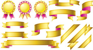 Gold and pink awards design collection Stock Photo