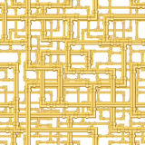 Gold Pipes Pattern Stock Images