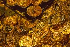 Gold pirate treasure Stock Photography