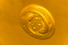 Gold Pisces symbol Royalty Free Stock Image