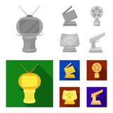 Gold pistol, silver prize for the best supporting role and other prizes.Movie awards set collection icons in monochrome. Flat style vector symbol stock Royalty Free Stock Photo