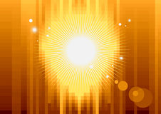 Gold pixel background Stock Images