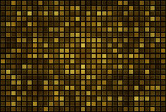 Gold pixel mosaic background. Abstract gold square pixel mosaic background Royalty Free Stock Photos