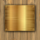Gold on a planks Stock Image