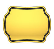 Gold Plaque Royalty Free Stock Images