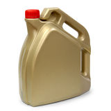 Gold plastic gallon Royalty Free Stock Photos