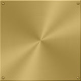 Gold Plate Royalty Free Stock Images