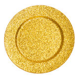 Gold plate Stock Photography