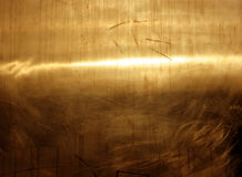 Gold plate 2. Reflection on a gold plate royalty free stock images