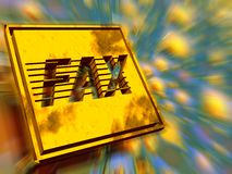 Gold plate, fax speed. stock photos