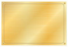 Gold plate. On white background Royalty Free Stock Photos