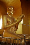 Gold plated Buddha Statue Royalty Free Stock Photo