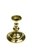 Gold plated candlestick. Isolated Stock Photography