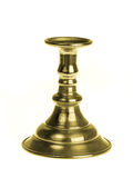Gold plated candlestick isolated on white background Royalty Free Stock Photography