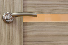 Gold-plated door handle Stock Image