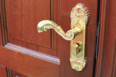 Gold-plated doorknob Royalty Free Stock Image