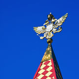 Gold-plated double-headed eagle on the tower Izmailovo Kremlin, Stock Photography