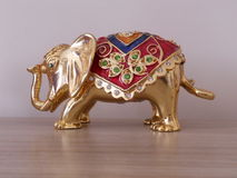 Gold-Plated Elephant Royalty Free Stock Images