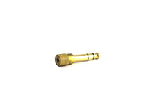 Gold-plated 3.5 mm audio female jack to TRS male adapter Royalty Free Stock Image