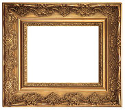 Gold Plated Picture Frame Royalty Free Stock Photo