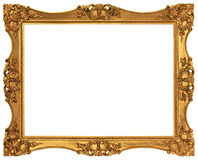 Gold Plated Picture Frame Stock Photos