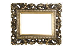 Gold Plated Picture Frame Stock Photography