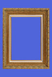 Gold plated quad-rate picture frame Royalty Free Stock Image
