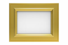 Gold plated rectangular picture frame Stock Images