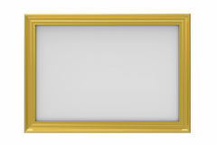 Gold plated rectangular picture frame Royalty Free Stock Images