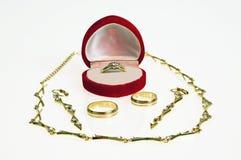 Gold-plated Schmucksachen Stockfoto