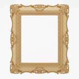 Gold Plated Wooden. Baroque picture frame to put your own pictures in Stock Images