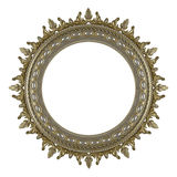 Gold Plated Wooden. Baroque picture frame to put your own pictures in Stock Image